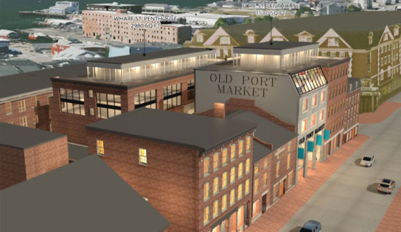 Old Port Market Aerial View